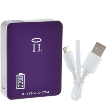 HALO Square 5200 mAh Portable Cell Phone and Tablet Charger