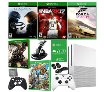 Xbox One S 2TB Bundle with Five Games & Accessories - E290079