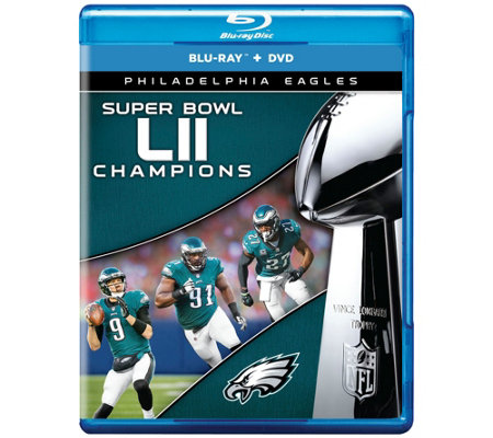 Ships 3/1 NFL Super Bowl LII Eagles  Blu-ray &DVD Combo