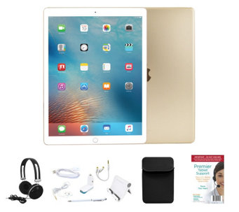 "Apple iPad Pro 9.7"" 32GB Wi-Fi w/ 2 Year Tech, Neoprene Sleeve & Accessories - E229380"
