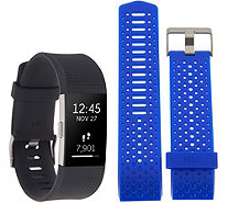 Ships 7/31 Fitbit Charge 2 Tracker with Cobalt Blue Sports Band - E231081