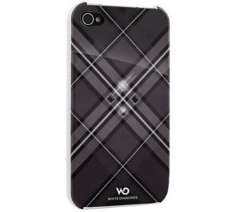 White Diamonds Grid iPhone 4 Case - E263381