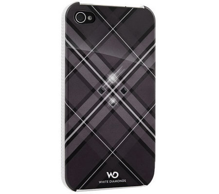 White Diamonds Grid iPhone 4 Case