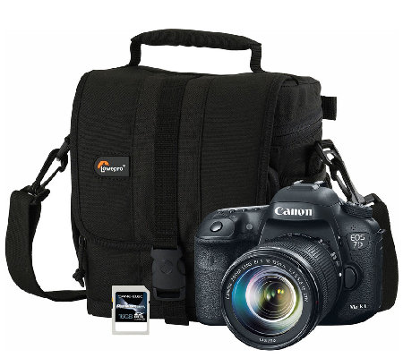 Canon EOS 7D Mark II 20.2MP DSLR Camera w/ Lens, Bag, SD Card