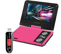 "Impecca 7"" Swivel Portable DVD Player with USBFlash Drive - E284981"