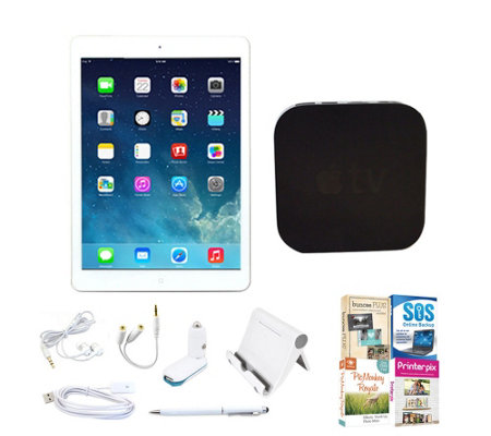 Apple iPad Air 16GB Bundle w/ Apple TV, Software & Accessorie