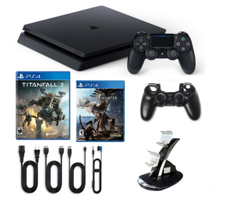 PS4 1TB Slim Console with Titanfall 2 andMonster Hunter