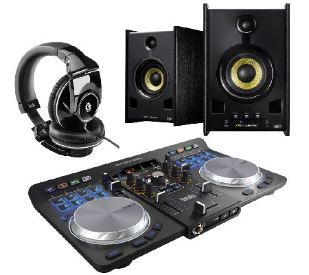 Hercules Universal DJ Turntable with Headphones& Speakers