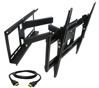 "MegaMounts Full-Motion 26"" to 55"" TV Wall Mount w/ HDMI Cable - E287482"