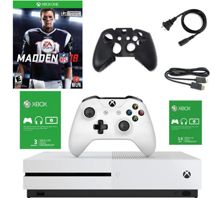 Xbox One S 500GB Console w/ Madden NFL 18 & 3-Month Live Card