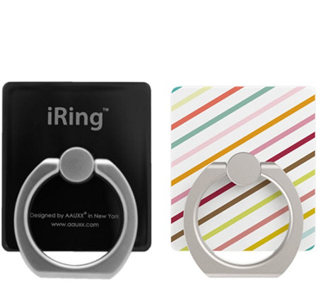 iRing Set of 2 Wearable Adhesive Phone Stand & Mount
