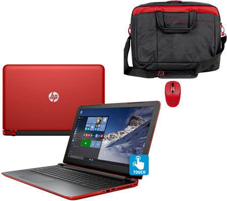 "HP 17""Pavilion Touch Laptop AMD A10, 8GB, 1TB, Bag, Mouse Tech &MS Office"