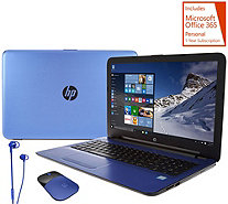 "HP 17 ""Blue Edition"" Laptop 12GB, 1TB, Core i3, Office Mouse & Earbuds - E230083"