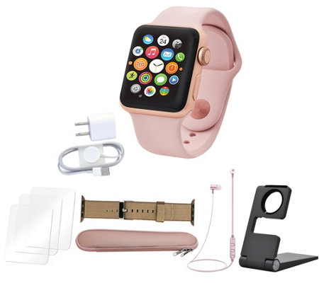 Apple Watch Series 3 GPS 42mm with Nylon Band, Earbuds & More