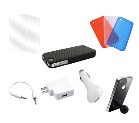 iPhone 4/4S Starter Kit with Cases, Charger