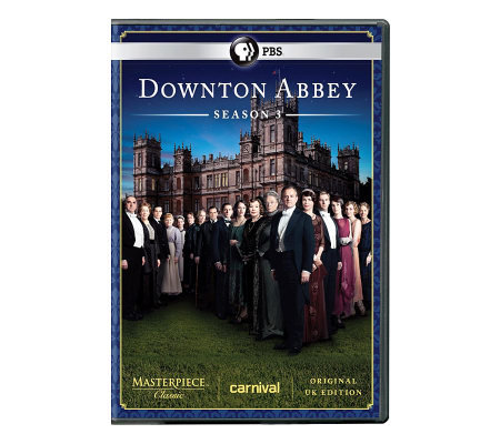 Masterpiece Classic: Downton Abbey Season 3 3-Disc Set - DVD