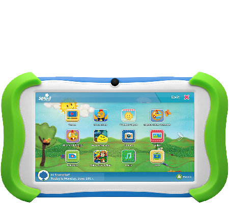 "Ematic 7"" Sprout Channel Cubby HD 16GB Kids Tablet"