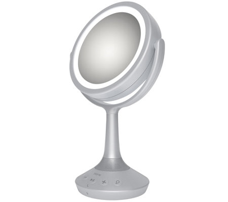 iHome Small Bluetooth Speaker Vanity Mirror