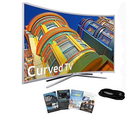 "Samsung 49"" Curved Smart LED HDTV with HDMI Cable & App Pack"