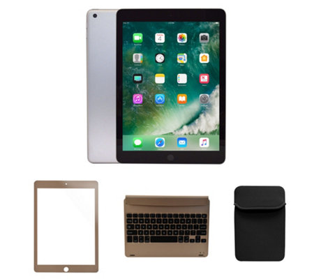 Apple New 2017 iPad 32GB Wi-Fi w/ Bluetooth Keyboard, Case & Accessories