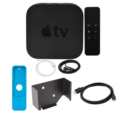 Apple TV 4K 32GB with Mounting Kit, HDMI Cable & Remote Sleeve