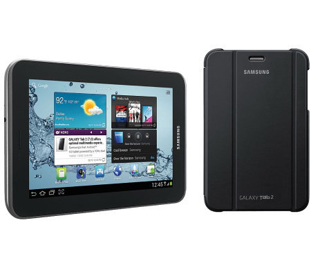 "Samsung 7"" 8GB Galaxy Tab 2 Android Tablet & Samsung Cover"