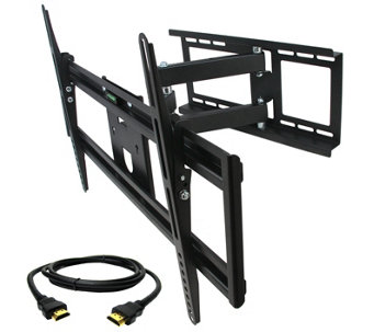 "MegaMounts Full-Motion 32"" to 70"" TV Wall Mount w/ HDMI Cable - E287484"