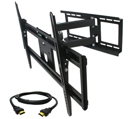 "MegaMounts Full-Motion 32"" to 70"" TV Wall Mount w/ HDMI Cable"