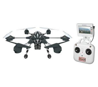 Alpha 2.4GHz HD Camera RC Drone and Remote withLCD Screen - E288784