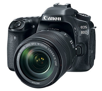Canon EOS 80D DSLR Camera with 18-135mm Lens - E290284