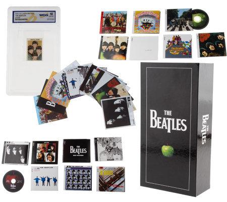 the beatles remastered 14 album stereo box set w bonus cards page 1. Black Bedroom Furniture Sets. Home Design Ideas