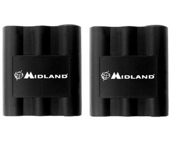 Midland Set of Two Rechargeable 2-Way Radio Batteries - E214185