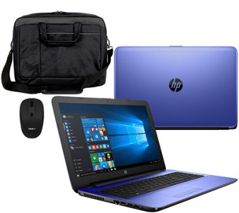 "HP 15"" Laptop Intel Core i3 12GB RAM 1TB HD Sleeve, Mouse, Life Time Tech - E229785"