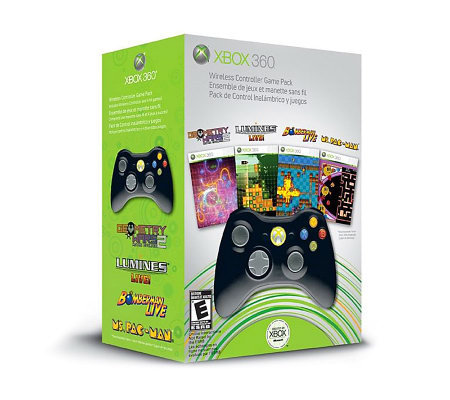 Xbox 360 Wireless Controller Game Pack with 4 Games