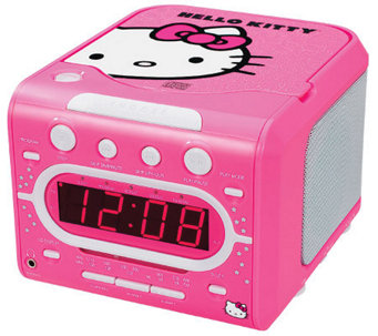 Hello Kitty KT2053A Stereo Alarm Clock Radio with CD Player - E268185