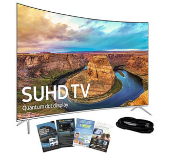 "Samsung 49"" Curved Smart SUHDTV with HDMI Cable& App Pack - E288985"