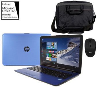 "HP 15"" Laptop Intel Core i3 12GB 1TB, Tech Sleeve, Mouse, MS Office365 - E229786"