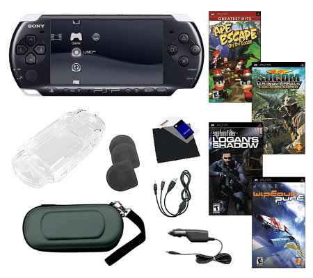 Sony PSP-3000 Bundle with 4 Games & Accessories