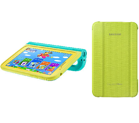 "Samsung 7"" Galaxy Tab 3 Kid's Tablet, Handle Case & Flip Cove"