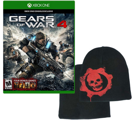 Xbox One Gears of War 4 Game and Beanie