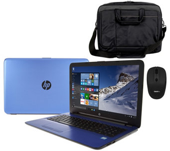 "HP 17"" Laptop Intel Core i3 12GB RAM 1TB HD Mouse, Sleeve, Life Time Tech - E229787"