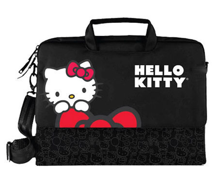 Hello Kitty KT4335R Laptop Case - Black