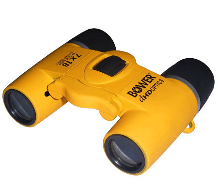 Bower 7x18 Waterproof Compact Black Binoculars