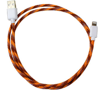 PC Treasures Braided 3' Lightning-to-USB Charging Cable - E284387
