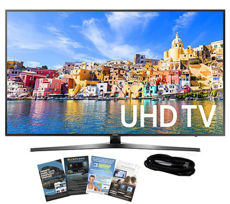 "Samsung 49"" Smart LED 4K Ultra HDTV with HDMI Cable & App Pac"