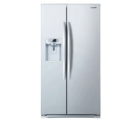 Samsung White 25 cu ft SxS, Counter Depth InDoor Icer Refrigerator