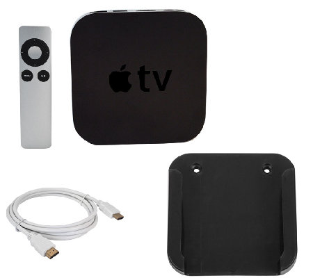 Apple TV Media Streamer with TV Mount, HDMI Cable & Mounting Kit