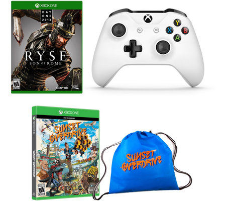 Xbox One 2 Games, Bag and Controller