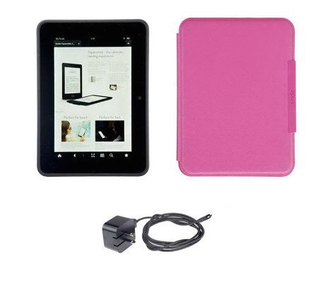 "Kindle Fire HD 7"" 16GB WiFi Tablet with Charger, Case & Tech Support"