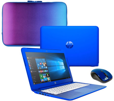 HP Stream 13 Laptop 2GB RAM 32GB Windows 10 MS Office 365 Case & Mouse